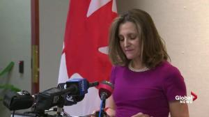 Freeland calls Canada exemption from U.S. tariffs a 'step forward'
